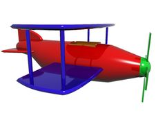 Free Cartoon Plane Stock Image - 6437961