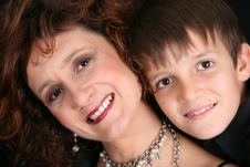 Free Stylish Mother And Son Stock Photography - 6437962