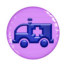 Free Ambulance Web Button Stock Photo - 6439320