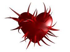 Free Spiky Heart Stock Image - 6439451