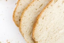 Slices Of Home Baked Bread Royalty Free Stock Photos