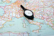 Free Curvimeter On The Map Stock Photo - 6439790