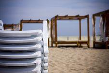 Free Beach Deckchairs Stock Photography - 6439832
