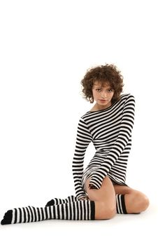 Free Woman In Stripy Clothes Stock Photo - 6439920