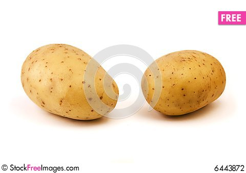 Free Raw Potato Stock Photography - 6443872