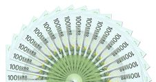 Free 100 Euro Notes Template Royalty Free Stock Photo - 6440055