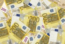Free 200 Euro Notes Texture Stock Photo - 6440560