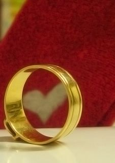 Ring And Heart Stock Photography