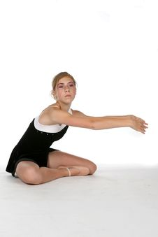 Free Pretty Girl Doing Stretching Exercises Stock Image - 6441701