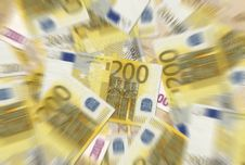Free 200 Euro Notes Texture Royalty Free Stock Photography - 6442137