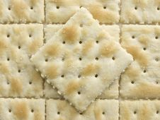 Free Salted Crackers Diamond Pattern Royalty Free Stock Photography - 6442467