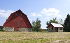 Free Red Barn Royalty Free Stock Photo - 6442625
