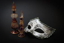 Venetian Glass And Mask Stock Photography