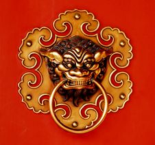Free Chinese Door Handle Royalty Free Stock Photos - 6443148