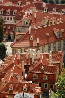Free Prague Rooftops Royalty Free Stock Photography - 6443437