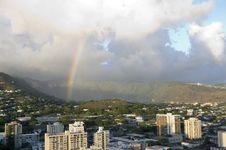 Free Rainbow City View Stock Photo - 6443690