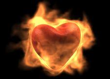 Free Burning Heart Stock Photos - 6443843