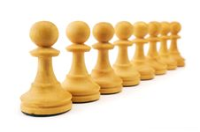 Free Row Of Pawns Royalty Free Stock Photography - 6443967