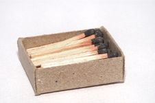 Free Match Sticks And Matchbox Stock Photography - 6444022