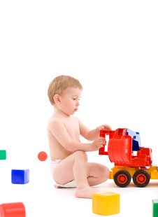 Free Little Boy Play With Toys Stock Image - 6444061