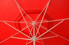 Free Red Umbrella. Royalty Free Stock Images - 6444309
