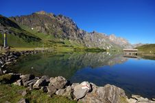Tarn In Swiss Alps Stock Photo