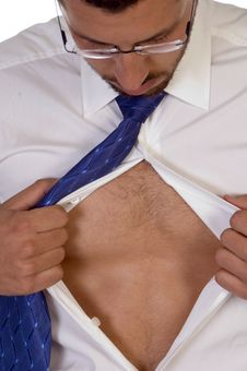 Free Male Looking Into His Shirt Royalty Free Stock Photo - 6444955