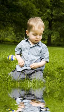 Free Boy On The Meadow Royalty Free Stock Image - 6445666