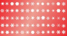Free White Snowflakes Royalty Free Stock Photos - 6446248