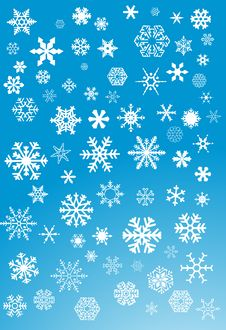Free White Snowflakes Stock Images - 6446304