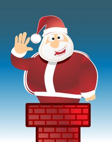 Free Santa Claus In Chimney Royalty Free Stock Images - 6446319