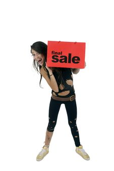 Free Standing Lady Holding Carry-bag Stock Photography - 6446492