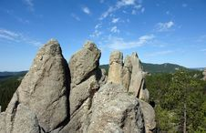 Free Granite Spires In The Black Hills Of South Dakota Royalty Free Stock Photography - 6446767