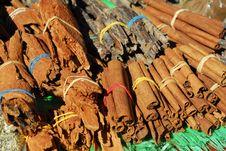 Raw Cinnamon Stock Photo