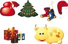 Free Decorative New Year S Elements Stock Photo - 6447740