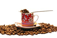 Free Coffee Cup And Spoon Stock Photography - 6447882