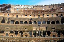 Wall Of Coliseum Royalty Free Stock Images