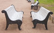 Two Benches Stock Photo