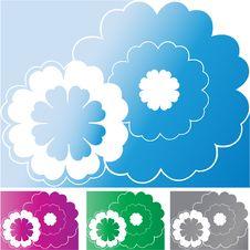 Flower Vector Background Set Stock Photo