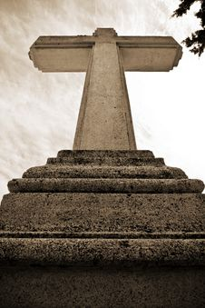 Free Stone Cross Royalty Free Stock Image - 6449486