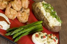 Free Shrimp, Asparagus, And Potatoes Stock Photo - 6449740
