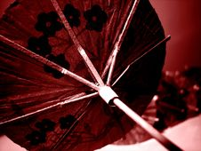 Free Paper Umbrella Red Royalty Free Stock Photography - 6449837