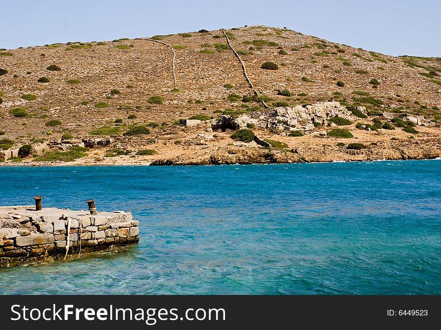 Dockyard at Spinilonga, Crete