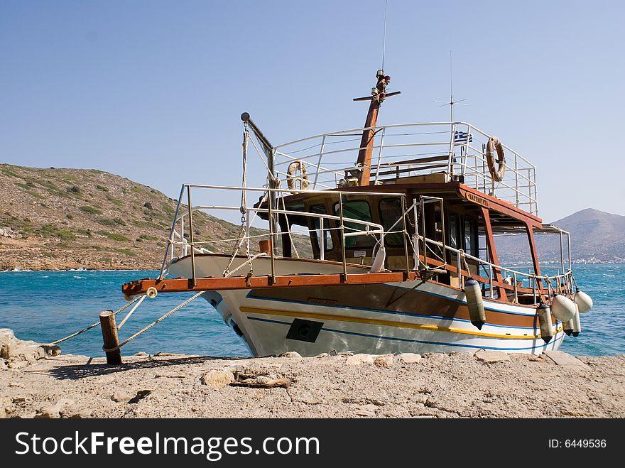Boat Dockyard at Spinilonga, Crete
