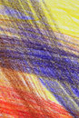 Free Abstract Multi-coloured Crayon Drawing Royalty Free Stock Images - 6456879