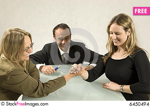 Free Women Arm Wrestling Stock Images - 6450494