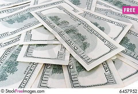 Free 100 Us Dollars Banknotes Stock Photography - 6457952