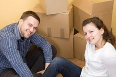 Free Couple Moving In Royalty Free Stock Photo - 6450035
