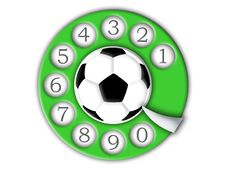 Free Football And Dial Stock Photography - 6450102