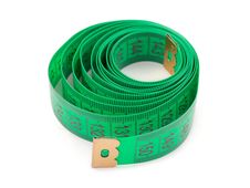 Free Green Measuring Tape Royalty Free Stock Photo - 6450325